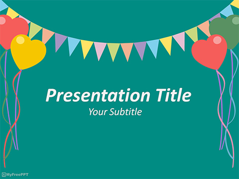 Free Kids Party PowerPoint Template - Download Free PowerPoint PPT