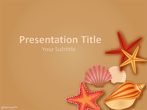 Free Sea Shells PowerPoint Template - Download Free PowerPoint PPT