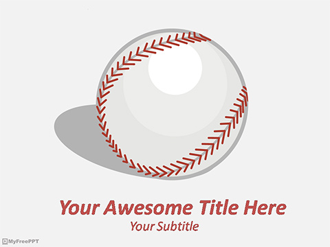 BaseBall PowerPoint Template - Free PowerPoint Templates