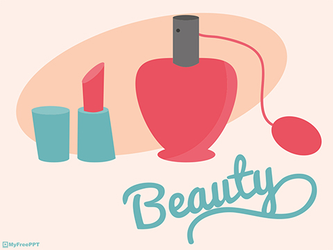 Free Beauty and Makeup PowerPoint Template - Download Free - free powerpoint graphics templates