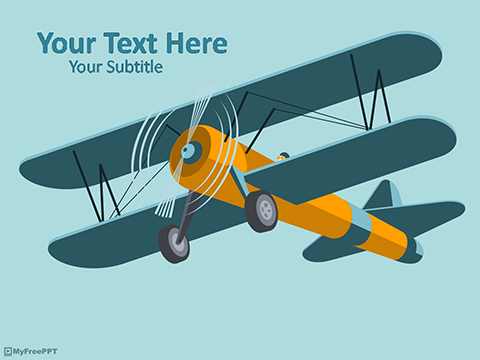 Biplane Aircraft PowerPoint Template - Download Free PowerPoint PPT