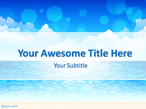 Free Blue Sea PowerPoint Template - Download Free PowerPoint PPT