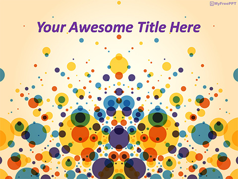 Colored Bubbles PowerPoint Template - Free PowerPoint Templates