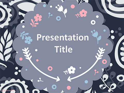 Free Scrapbook style Floral Background PowerPoint Template