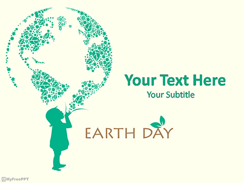 Earth Day Greeting PowerPoint Template - Free PowerPoint Templates