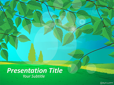 Free Landscape PowerPoint Template - Download Free PowerPoint PPT