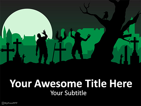 Free Zombies PowerPoint Template - Download Free PowerPoint PPT