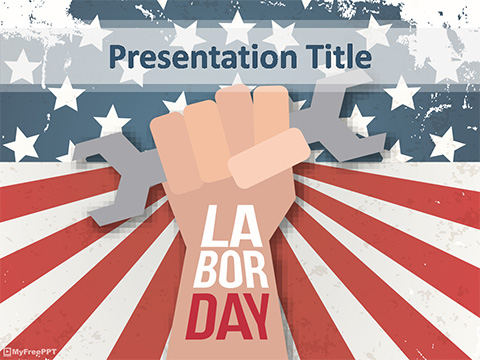 Free Labor Day Holiday PowerPoint Template - Download Free