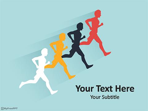 Free Marathon PowerPoint Template - Download Free PowerPoint PPT
