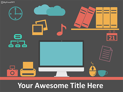 Free Group of Office People PowerPoint Template - Download Free - office powerpoint template
