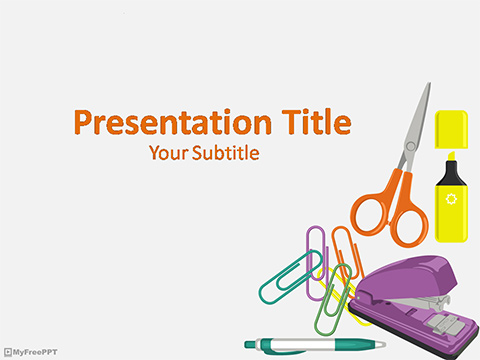 Free Office Supplies PowerPoint Templates - MyFreePPT - office supply template