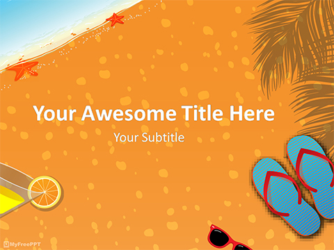 Summer Vacation PowerPoint Template - Download Free PowerPoint PPT