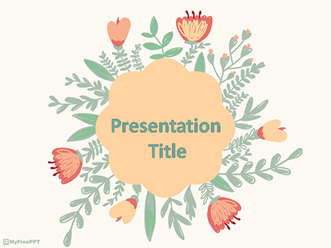 Free Vintage Floral PowerPoint Template - Download Free PowerPoint PPT