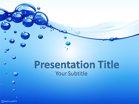 Free Water Bubbles PowerPoint Template - Download Free PowerPoint PPT