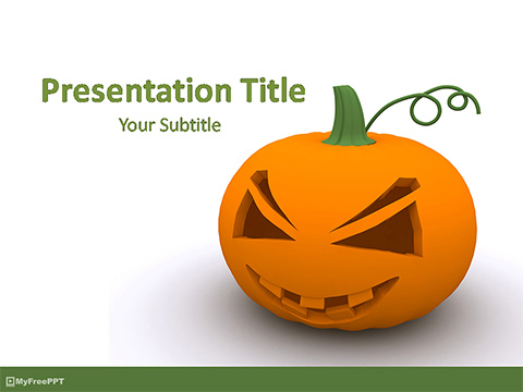 Free 3d Halloween Jack-O-Lantern PowerPoint Template - Download Free