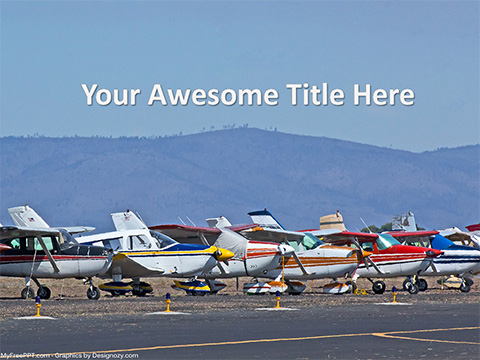 Free Airplanes PowerPoint Template - Download Free PowerPoint PPT