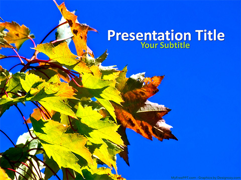 Free Green Leaves PowerPoint Template - Download Free PowerPoint PPT