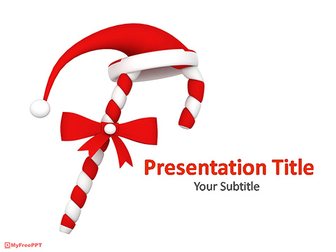 Free Christmas Candy Cane PowerPoint Template - Download Free