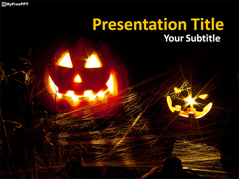 Free Halloween Jack-O-Lantern PowerPoint Template - Download Free