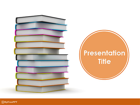 Free Knowledgeful Books PowerPoint Template - Download Free - Powerpoint Books