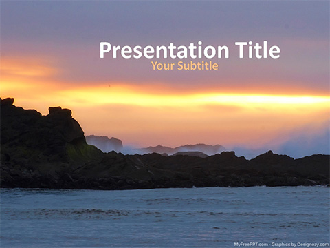 Free Sea Wave PowerPoint Templates - MyFreePPT