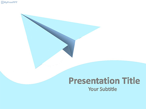 Airport PowerPoint Templatesa plane on sky template - free ppt