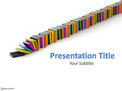Free Pile of Books PowerPoint Template - Download Free PowerPoint PPT - powerpoint books