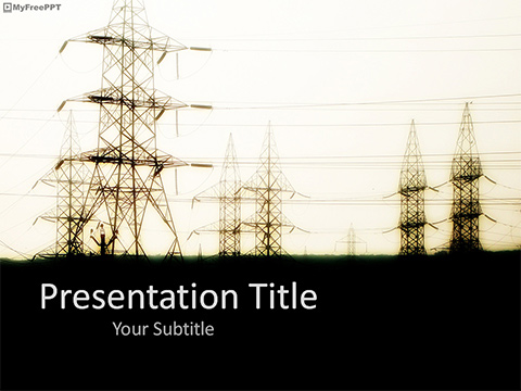 Free Power Grid Place PowerPoint Template - Download Free PowerPoint PPT