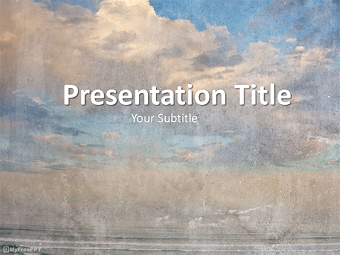 Free Vintage Cloudy Sky PowerPoint Template - Download Free