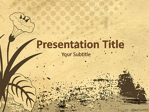Free Vintage Floral Background PowerPoint Template - Download Free