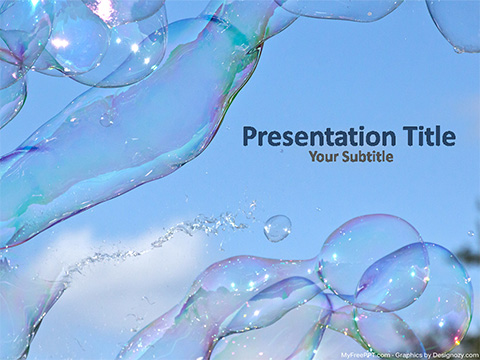 Free Shiny Water Bubbles PowerPoint Template - Download Free