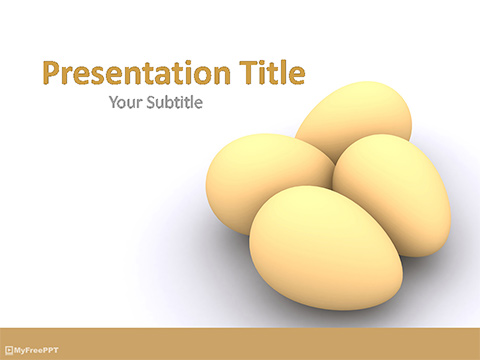 Free Yellow Eggs PowerPoint Template - Download Free PowerPoint PPT
