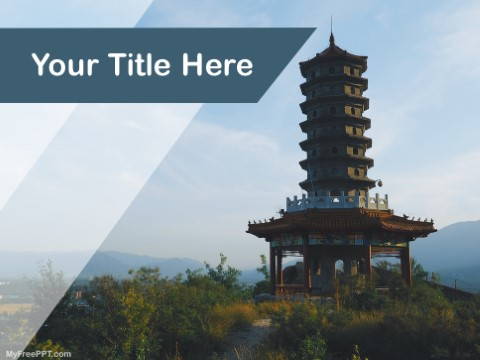 Free Pagoda Temple PPT Template - Download Free PowerPoint PPT