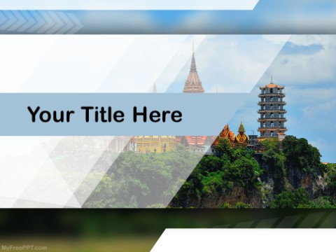Free Thailand Temple PPT Template - Download Free PowerPoint PPT