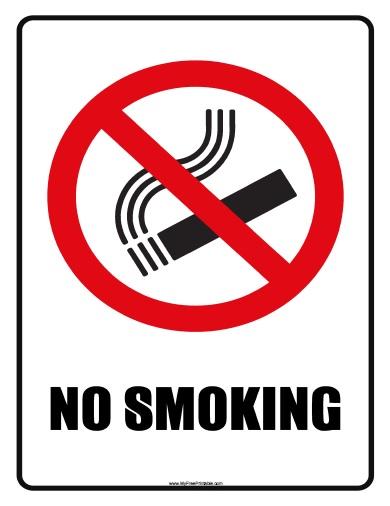 No Smoking Sign - Free Printable - MyFreePrintable