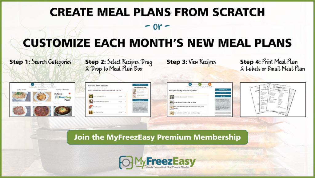 About the MyFreezEasy Premium Membership - MyFreezEasy - meal plans
