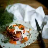Stéphane's salmon and hash brown club