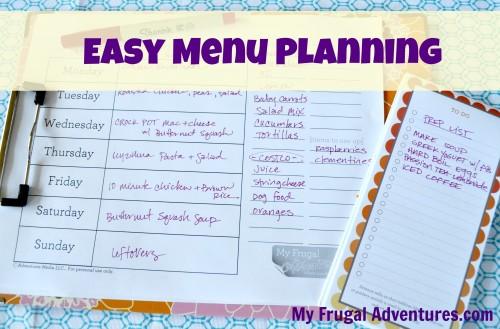 How to Start Weekly Menu Planning (+ Free Menu Plan Worksheet) - My
