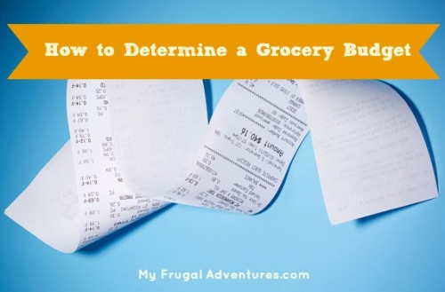 How to Create a Grocery Budget - My Frugal Adventures