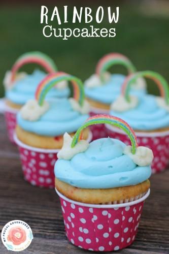 Easy Rainbow Cupcakes - My Frugal Adventures