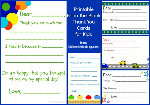 Free Printable Thank You Notes - My Frugal Adventures