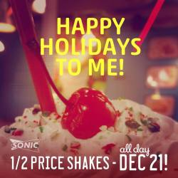 Nifty Get A Half Price Milk Shake Ondecember Half Price Shakes My Frugal Adventures Sonic Half Price Shakes 2017 Sonic Half Price Shakes October 24 Well While You Are S By Sonic