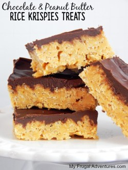 Distinguished Chocolate Frosting Peanut Butter Rice Krispie Bars Healthy Chocolate Peanut Butter Rice Krispies Treats My Frugal Adventures Peanut Butter Rice Krispie Bars