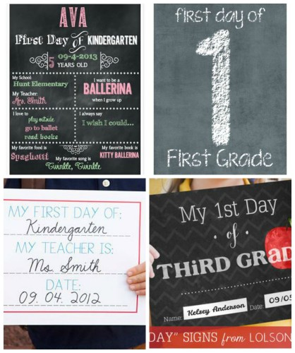 First Day of School Printables - My Frugal Adventures