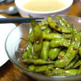 [NEW RECIPE] Healthy Snack or Appetizer with Spicy Garlic Edamame