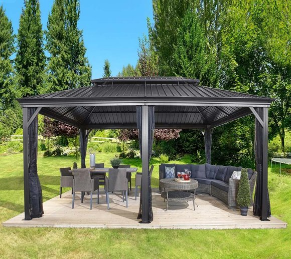 Aluminium Pavillon Gazebo Messina Sojag Aluminium Pavillon Gazebo Messina 12x20 Inkl