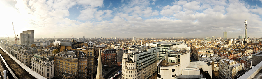 london skyline panorama two
