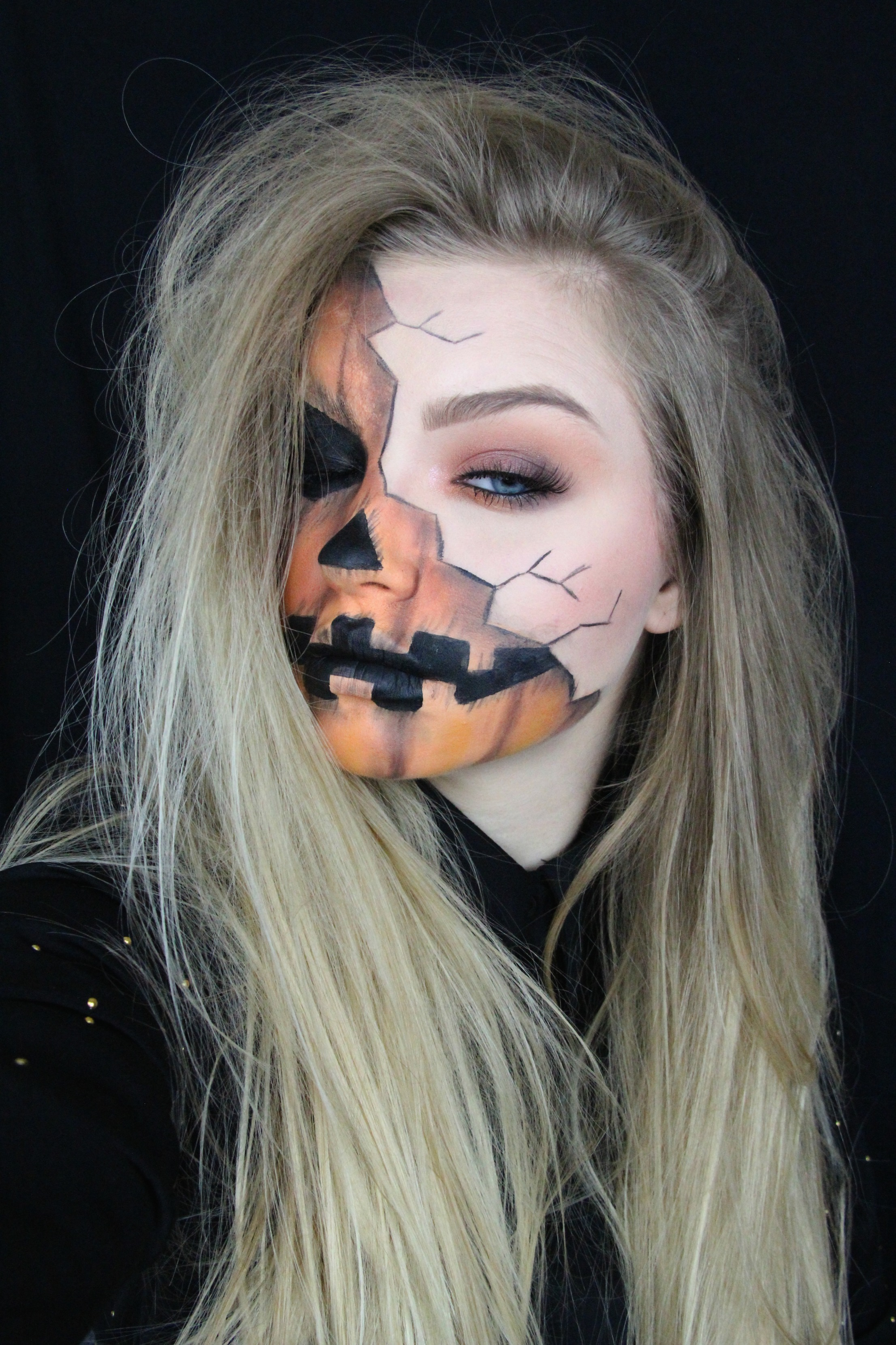 Halloween Make Up Anleitung Halloween Creepy Pumpkin Makeup Tutorial Mygloss