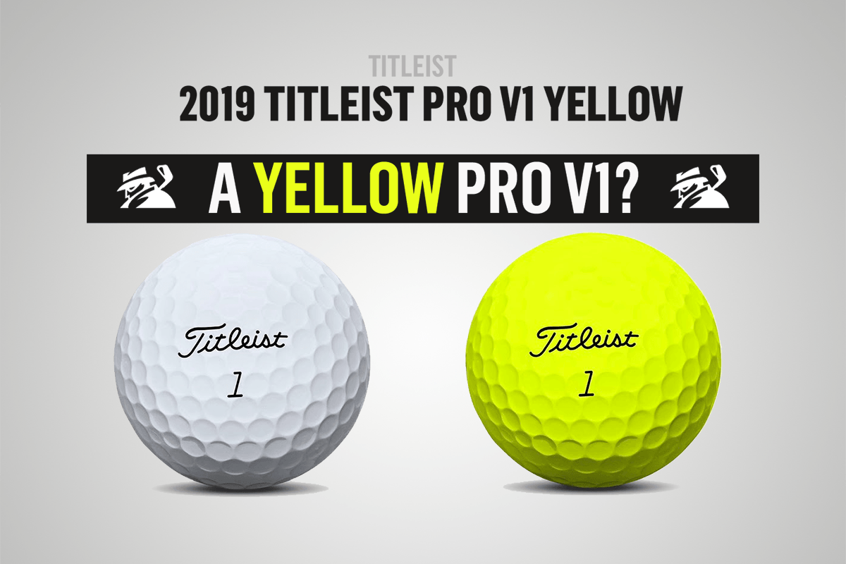 titleist to release yellow pro v1 and pro v1x golf balls
