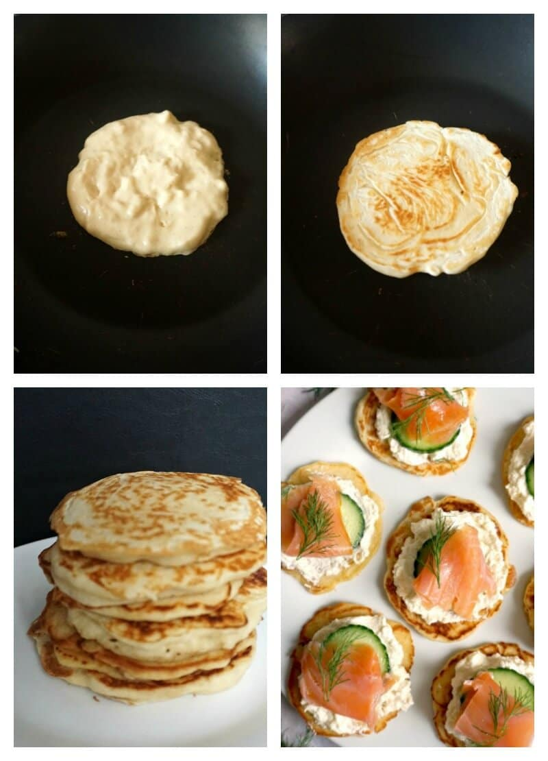 Canapés Show Smoked Salmon Blini Canapés My Gorgeous Recipes